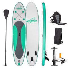 JIUBENJU Inflatable Stand Up Paddle Board with Kayak Seat and Premium SUP Accessories