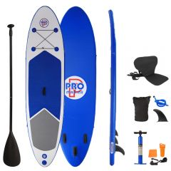 Inflatable Stand Up Paddle Board with Kayak Seat and Premium SUP Accessories-Blue