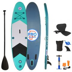 Inflatable Stand Up Paddle Board with Kayak Seat and Premium SUP Accessories-Green