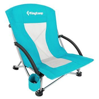 Kingcamp Low Sling Back Mesh Back Folding Beach Chair Lawn Chair