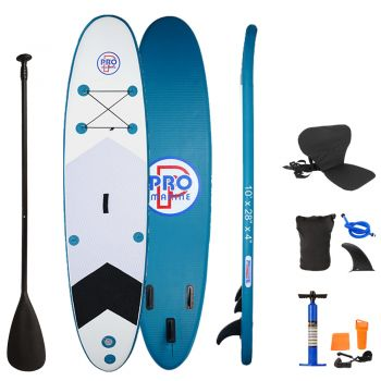 Inflatable Stand Up Paddle Board with Kayak Seat and Premium SUP Accessories-Navy