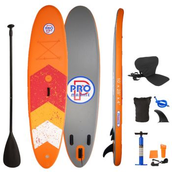 Inflatable Stand Up Paddle Board with Kayak Seat and Premium SUP Accessories
