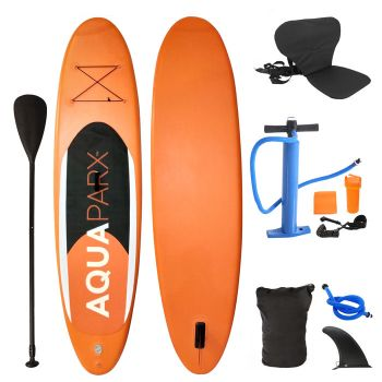 Inflatable Stand Up Paddle Board with Kayak Seat and Premium SUP Accessories-Red